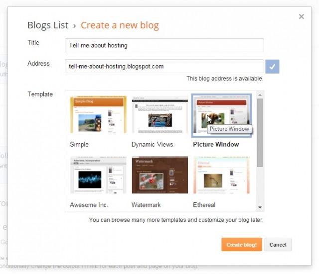 Блог в Google Blogger