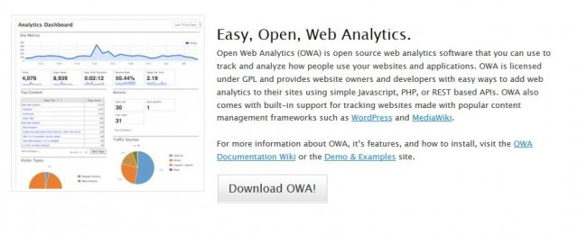 сервис Open Web Analytics