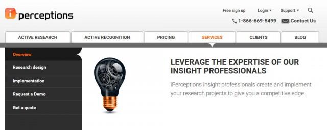 сервис для веб-аналитики IPerception