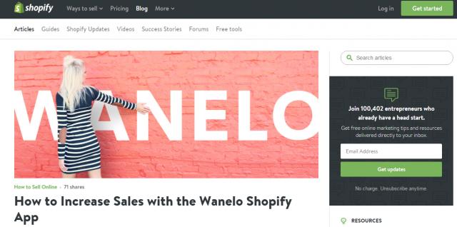 блог shopify