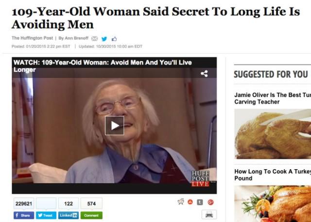 видео про долгожительницу