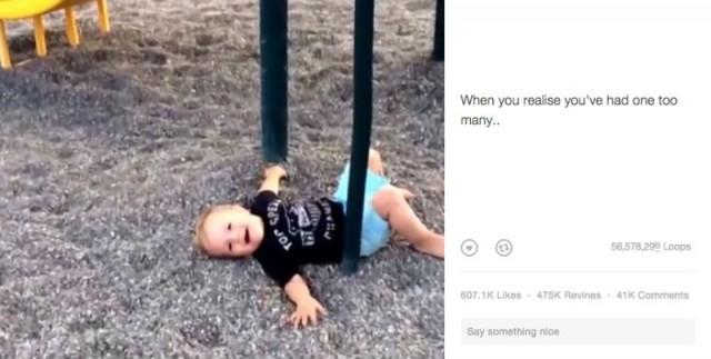 видео ребенок смешно упал