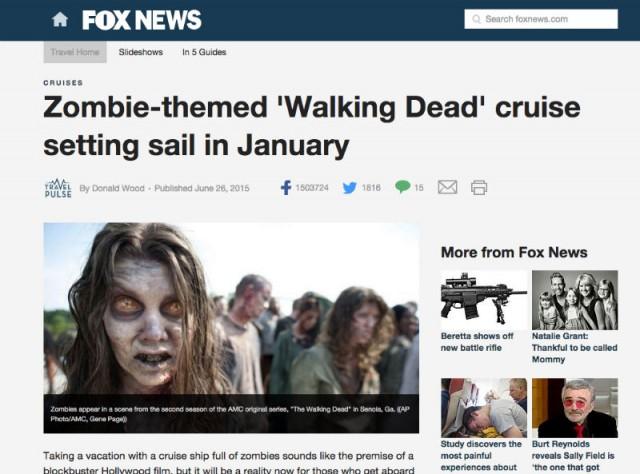 пост про зомби круиз