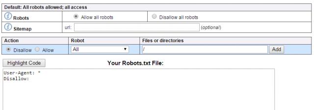 как создать файл robots.txt
