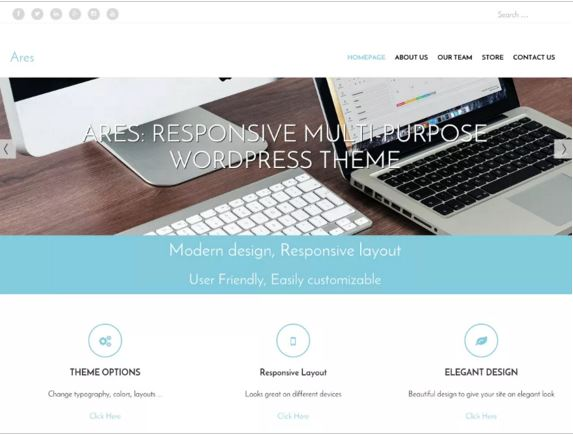 тема для WordPress Ares