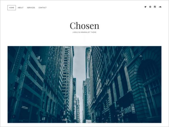 тема для WordPress Chosen