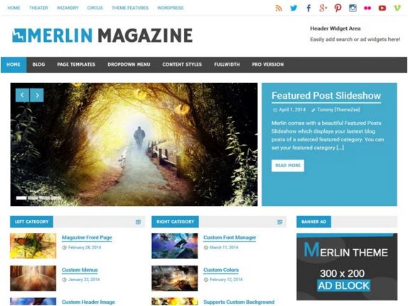 тема для WordPress Merlin