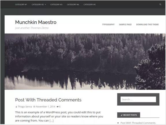 тема для WordPress Munchkin Maestro