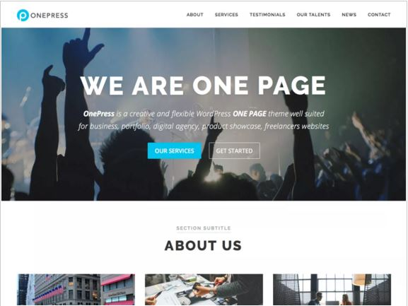 тема для WordPress OnePress