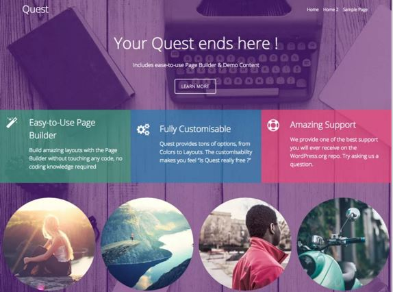 тема для WordPress Quest