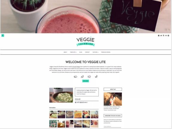 тема для WordPress Veggie