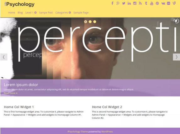 тема для WordPress fPsychology