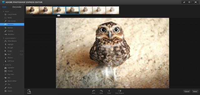 редактор изображений Photoshop express editor