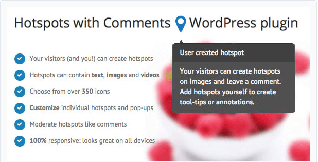 Hotspots with Comments wordpress