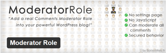 Moderator Role wordpress