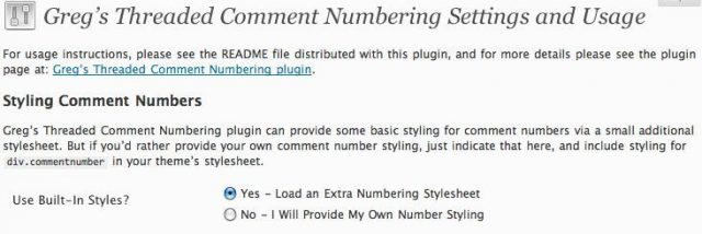 Greg's Threaded Comment Numbering wordpress