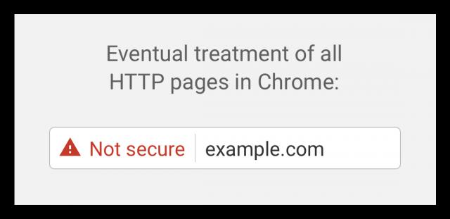пометка сайтов на http красным треугольником