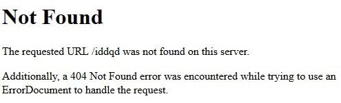 страница, которую отдает сервер при обращении к несуществующей странице