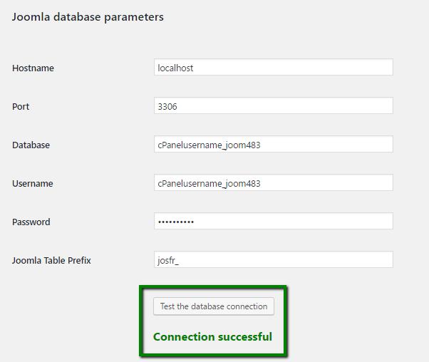 параметры базы данных