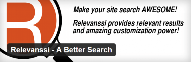 Relevanssi - A Better Search