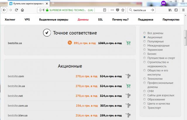 результаты проверки домена