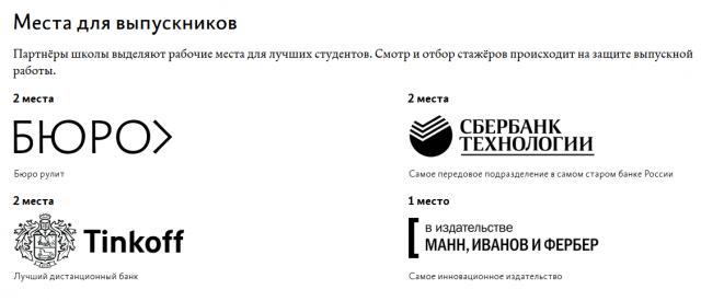 Пример выравнивания на сайте Бюро Горбунова
