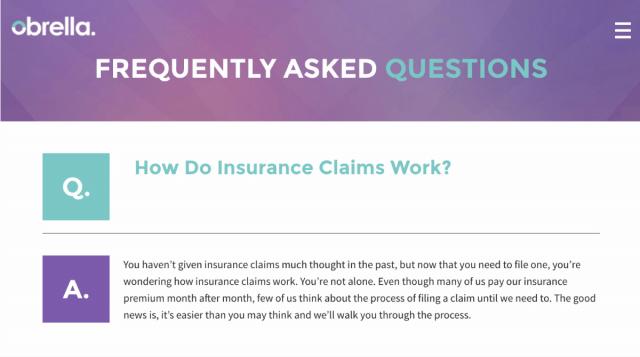 Пример страницы с FAQ