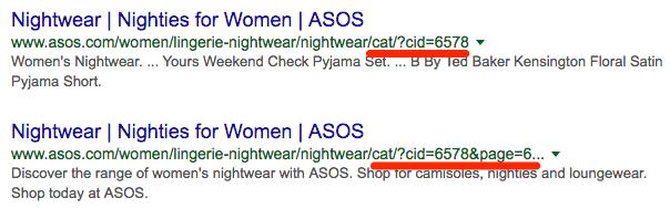 Пример ссылок на сайт с URL параметрами