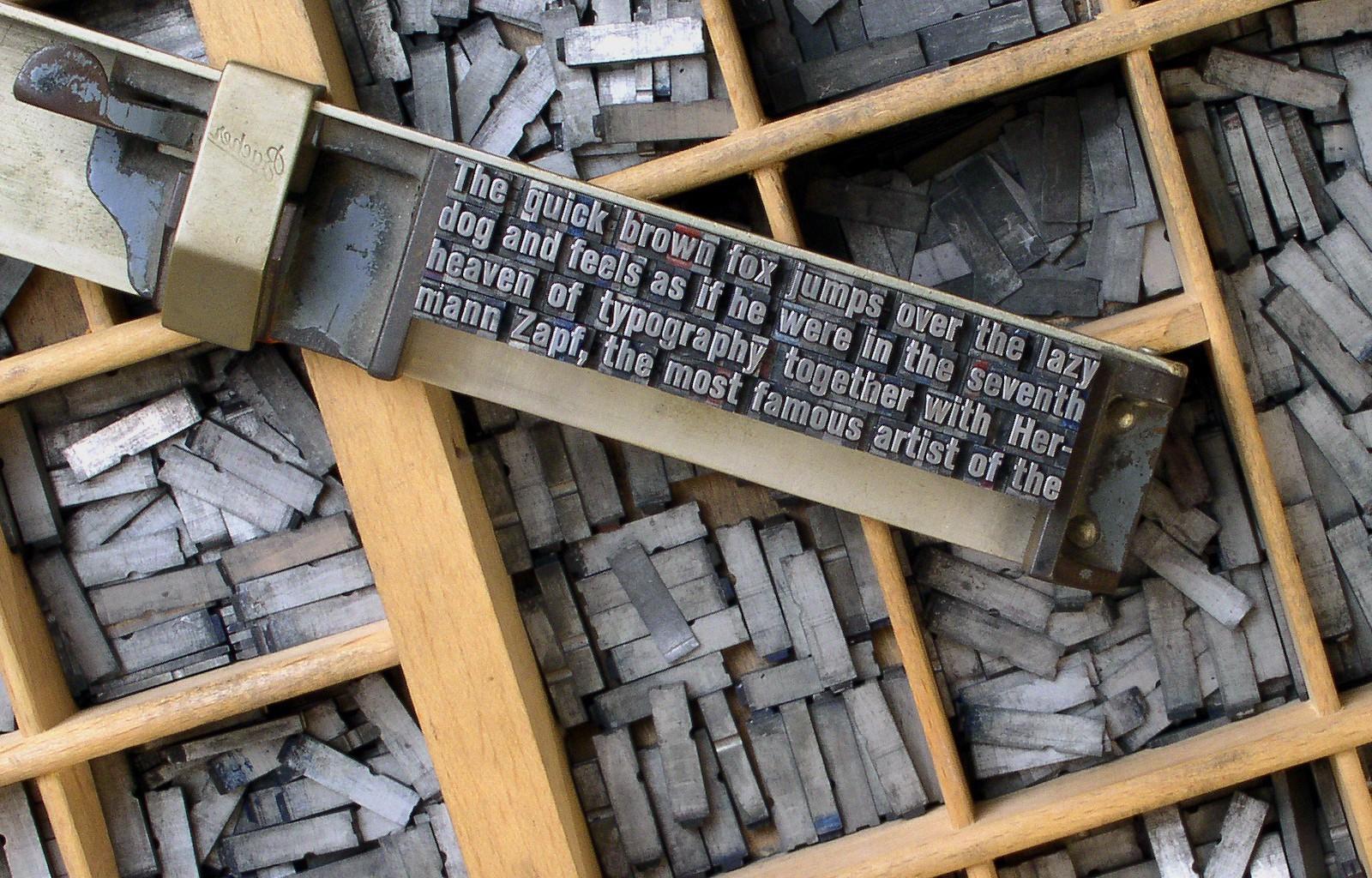 подвижные литеры печатного станка