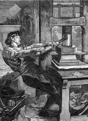 первые печатные станки