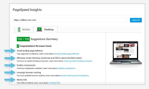 Предыдущий алгоритм работы PageSpeed Insights