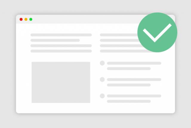 информативная структурированная страница