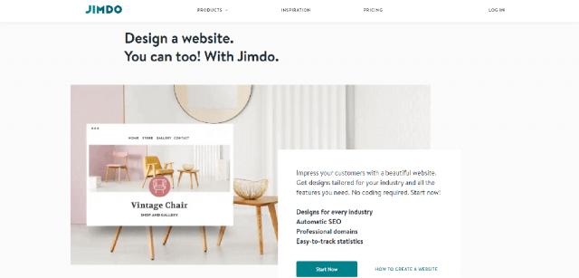 бесплатный конструктор сайтов на русском языке Jimdo