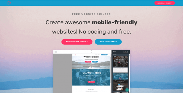 бесплатные платформы для создания сайта Mobirise
