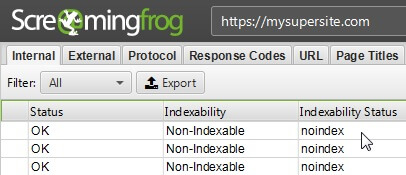 как проверить метатеги Robots с помощью Screaming Frog SEO Spider