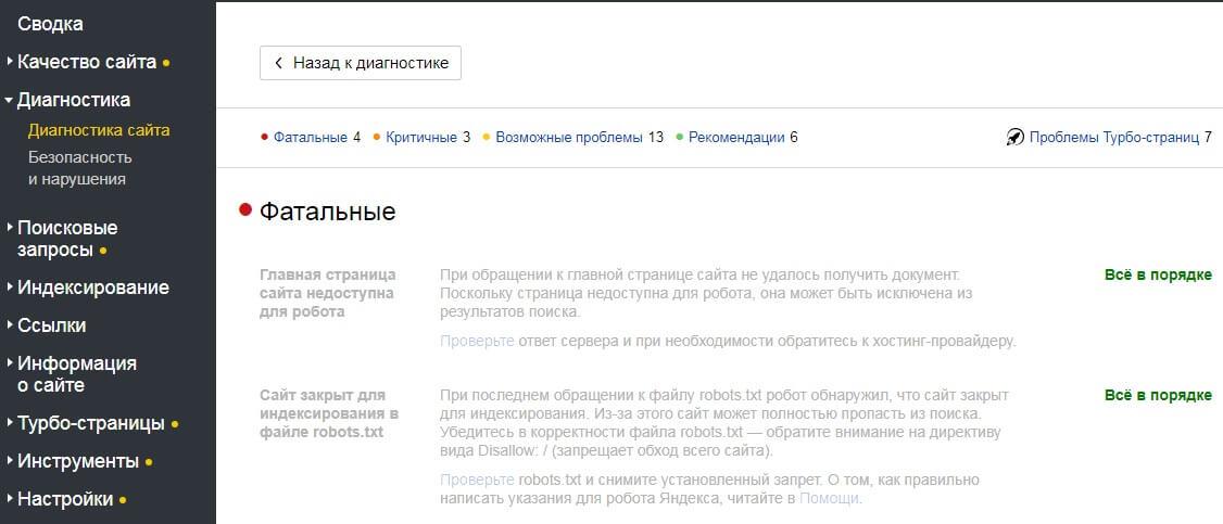 проверка заблокированных страниц для индексации в яндекс вебмастер