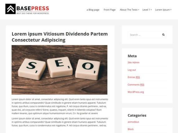 wordpress тема BasePress