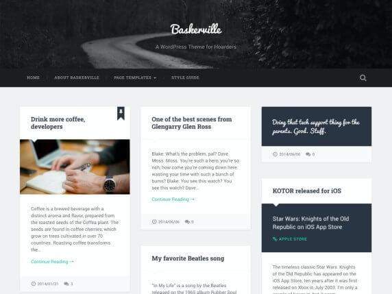 wordpress тема Baskerville