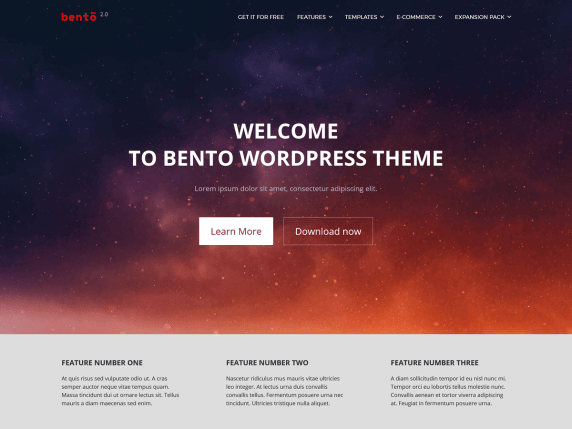 wordpress тема Bento