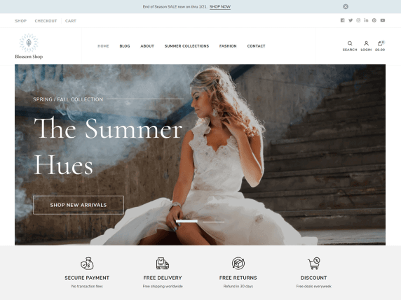 wordpress тема Blossom Shop