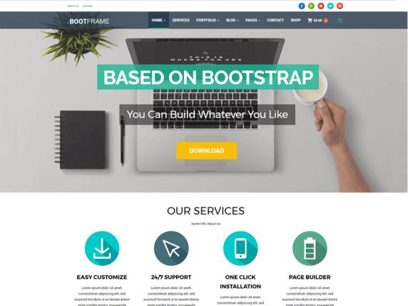 wordpress тема BootFrame Core