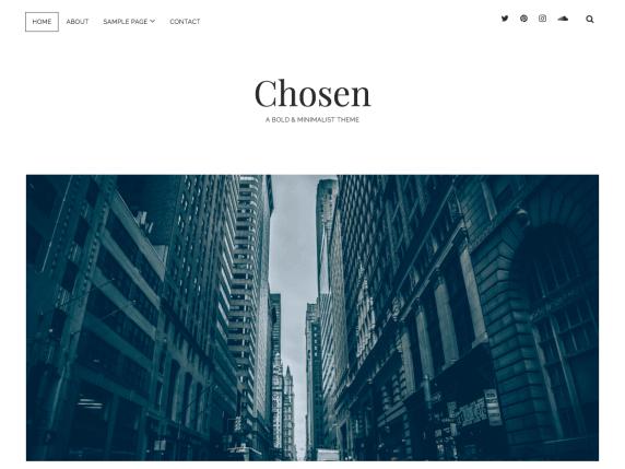 wordpress тема Chosen
