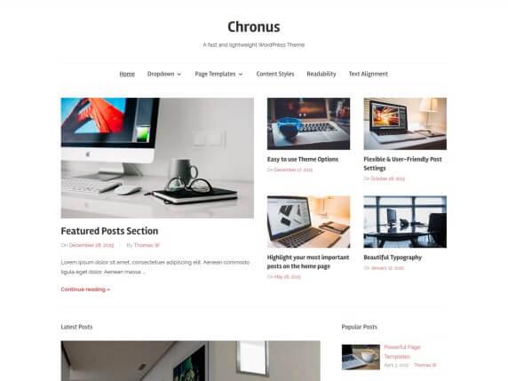 wordpress тема Chronus