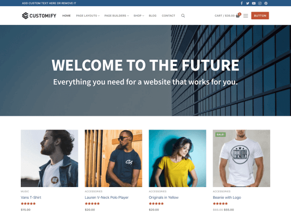 wordpress тема Customify