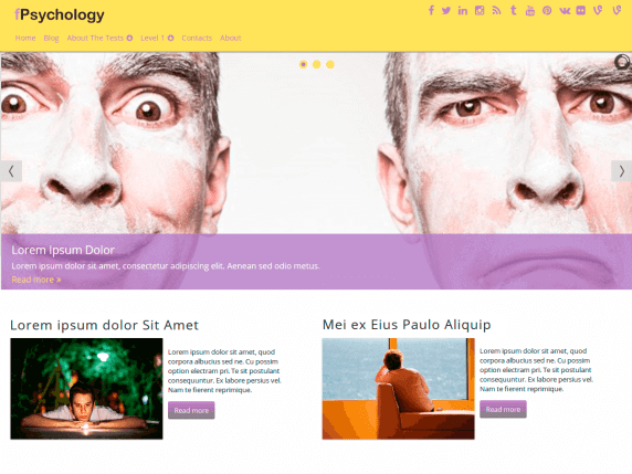 wordpress тема fPsychology