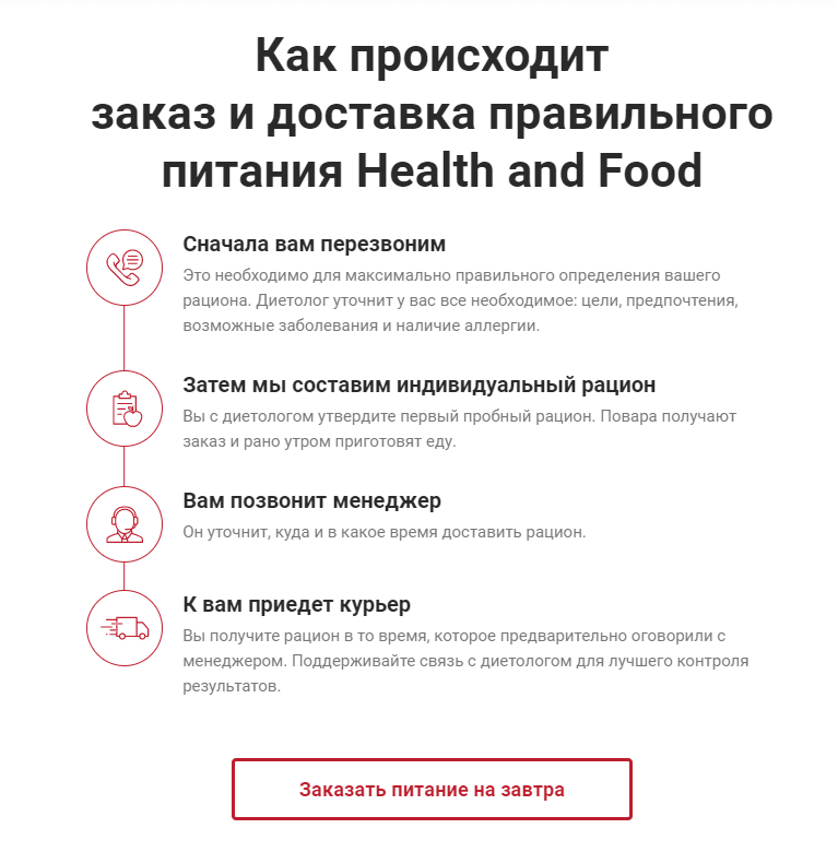 Сайт Health and Food