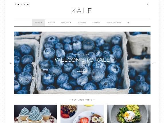 wordpress тема Kale