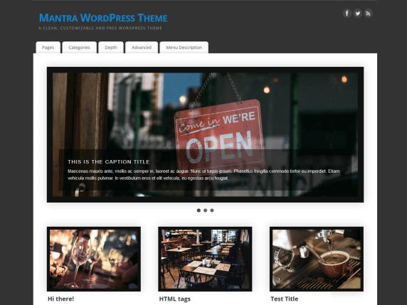 wordpress тема Mantra