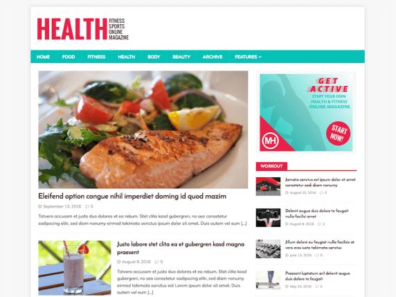 wordpress тема MH HealthMag