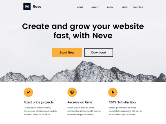 wordpress тема Neve